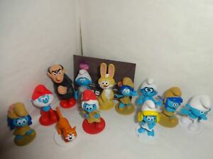 SMURFS-THE-LOST-VILLAGE-CAKE-TOPPERS-12-FIGURES-AND-FREE-GIFT-UK-SELLER