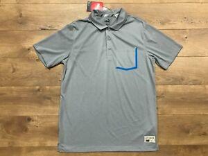 86876255 2019 Puma Golf Faraday Polo Shirt Quarry Gray Blue Dry Cell Mens SZ ...