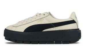 Puma Women s PLATFORM TRACE BLOCK Shoes Vanilla Ice Night Sky 367067 ... f00a65177