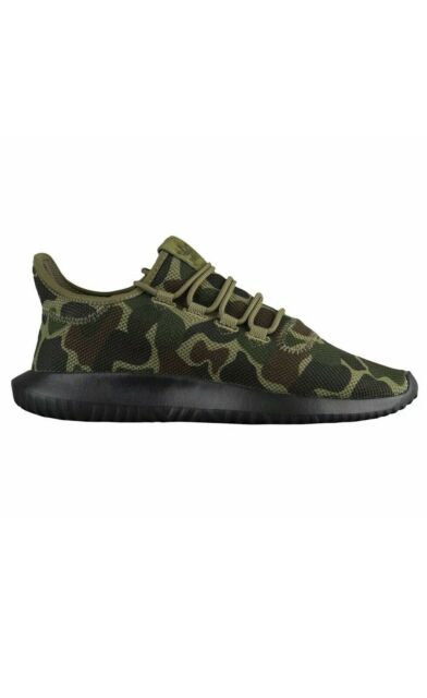 adidas Tubular Shadow Knit Camo Mens CP8682 Night Cargo Black Shoes Size 10.5