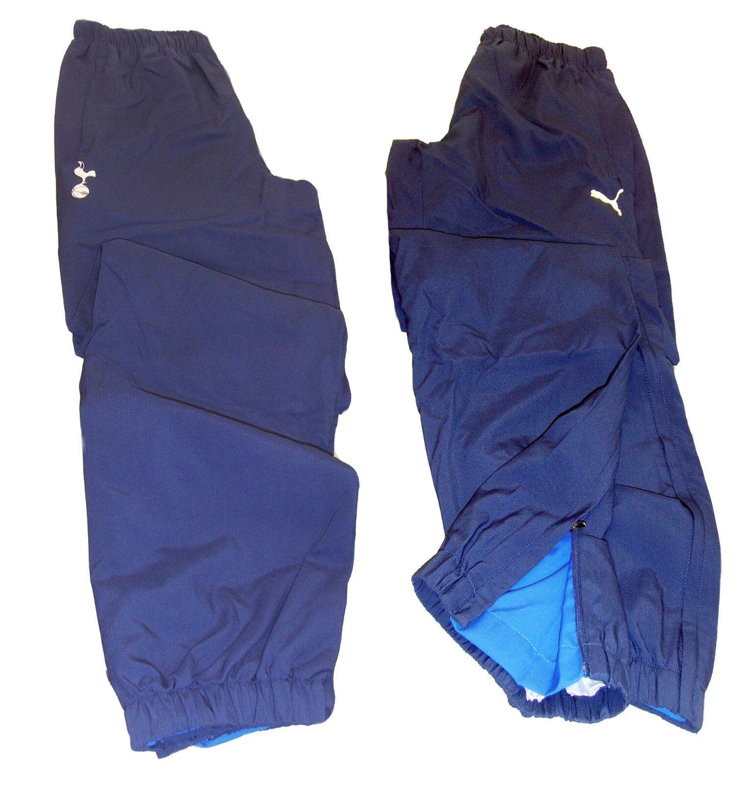NEU Puma Herren Tottenham Hotspur Fußball Trainingsanzug Hose Blau XL