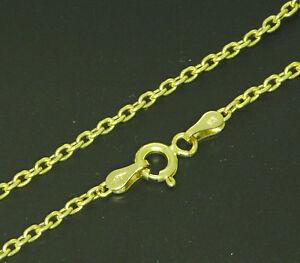 Damen-Gold-Anker-kette-Halskette-585-Gold-42-cm-Collier-Neu