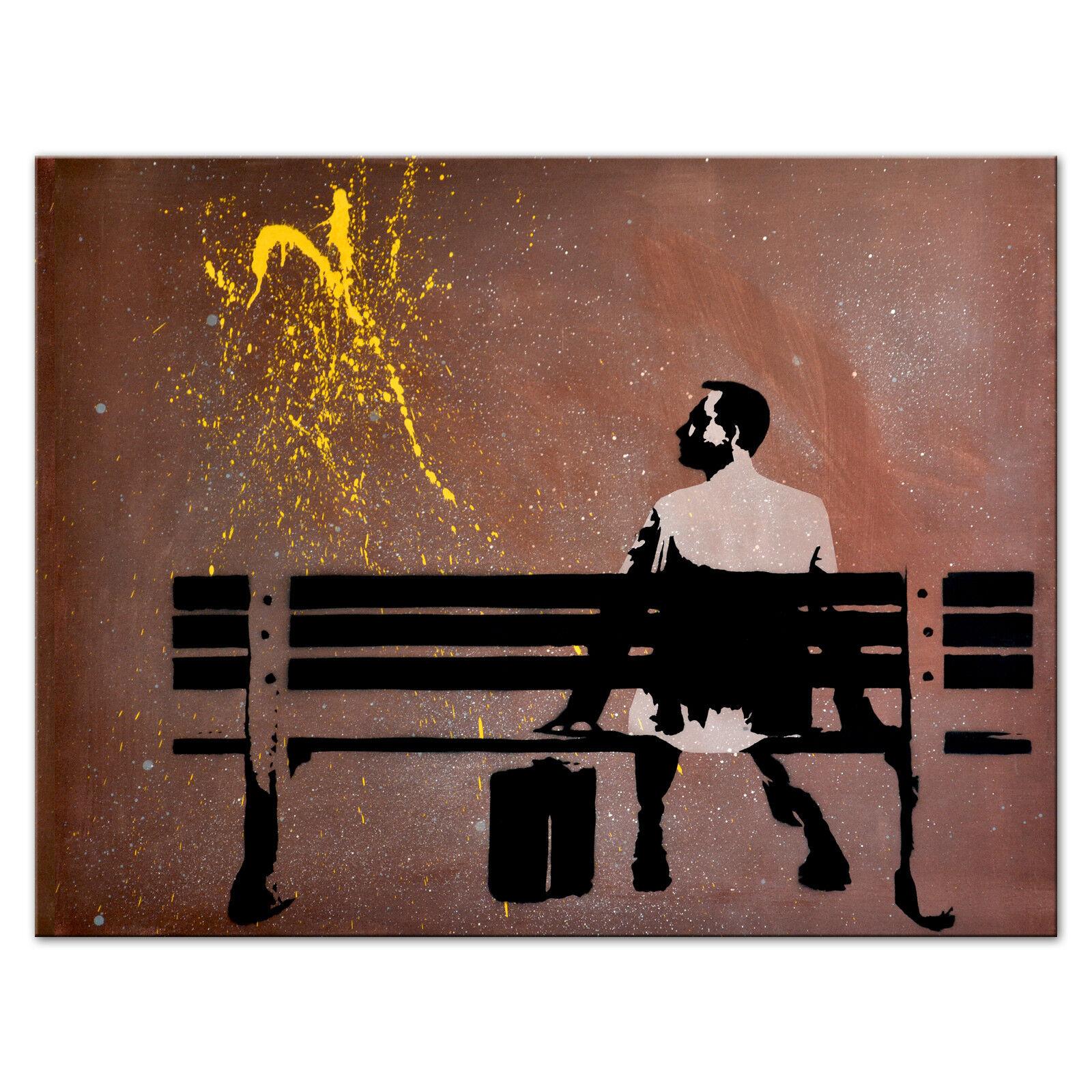Leinwand Wandbild - Forrest Gump (div. Größen) Kunstdruck Street Art Graffiti