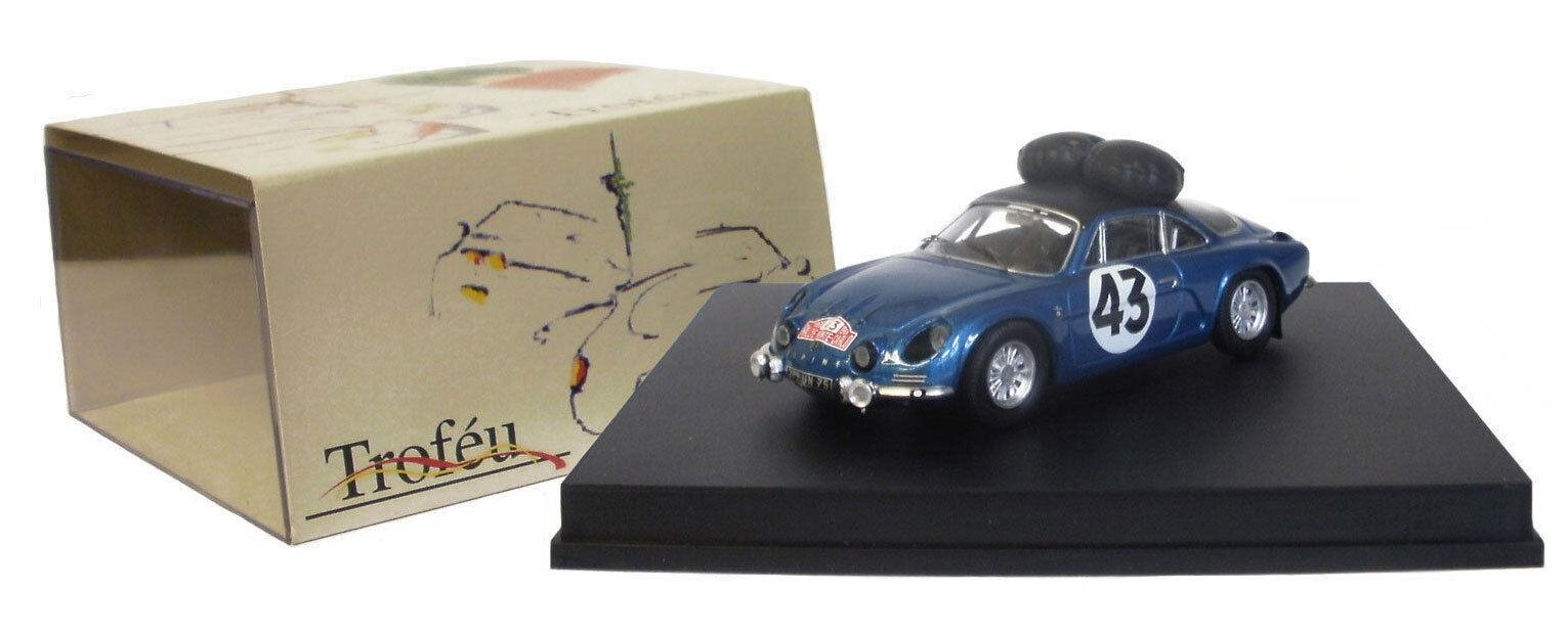 Trofeu alpine renault a110 824 RALLYE MONTE CARLO 1968-Larrousse, échelle 1 43,