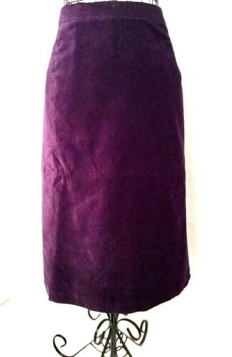 JOAN RIVERS Velvet Slim Skirt in Amethyst BRAND NEW!