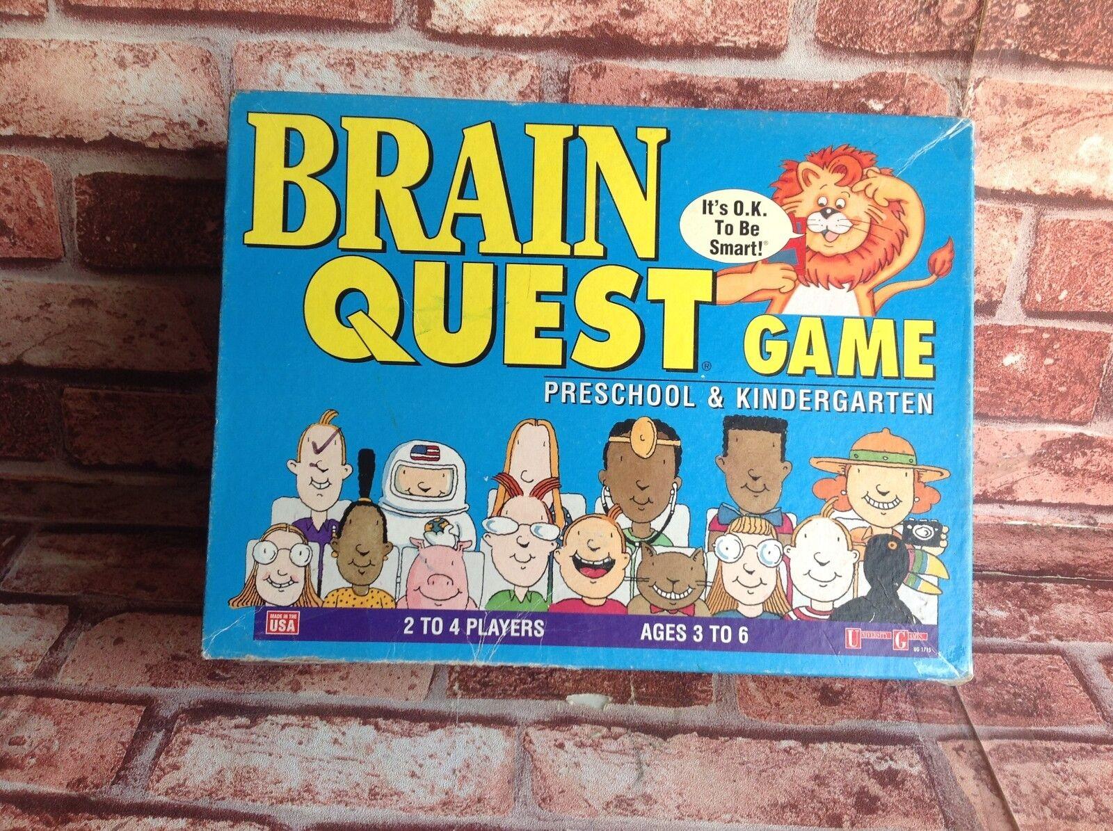 Brain Quest Juego-preescolar & Jardín De Infancia-Universidad Juegos Completos