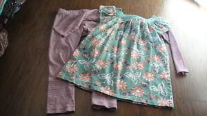 BOUTIQUE TEA COLLECTION 4 FLORAL DRESS LEGGING OUTFIT TWINS