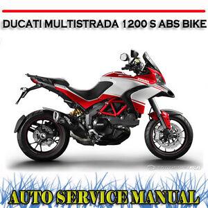 ducati multistrada 1200 s abs bike workshop service repair manual rh ebay com au ducati multistrada 1200 service manual download ducati multistrada 1200 service manual