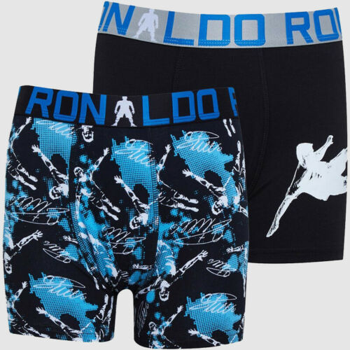 2 Pack Boys CR7 Elasticated Waistband Jersey Boxers Sizes Age from 4 to 15 Yrs