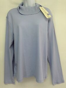5502a964f9bcb NWT WHITE STAG Women Sweater Turtleneck Purple Lg Sleeve Ribbed Knit ...