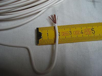 fil souple blanc câble électrique 1 x 0,5 mm2 multibrins lot de 5 m