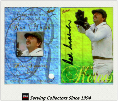 RARE--1998/99 Select Cricket Ashes Heroes Signature Card HS4: Rod Marsh
