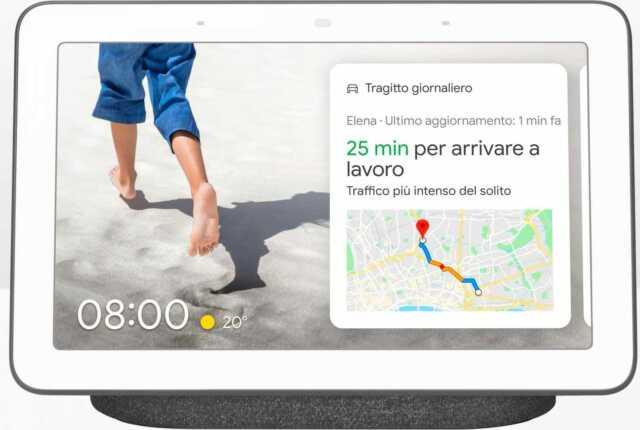 "Google Nest Hub - Cornice Digitale 7"" Comando Videosorveglianza Grigio GA00515"