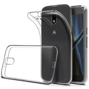 free shipping 81cf8 51a08 Details about Motorola Moto G4 Plus Clear Silicone Back Cover - UK Seller