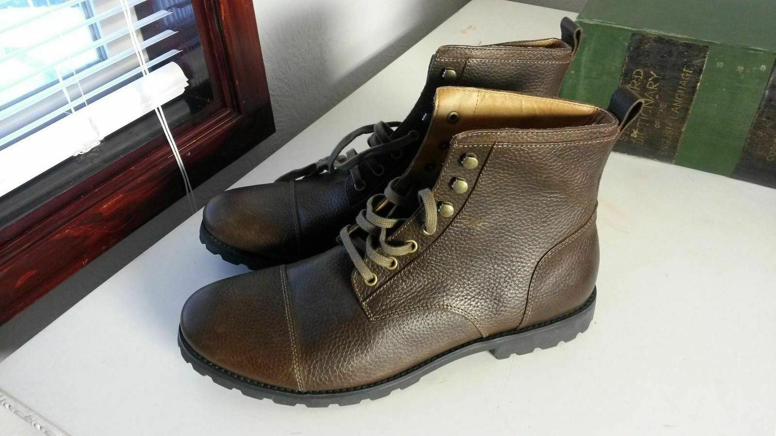 FOSSIL Low Men's Brown Leather Boots FFM7030200 SZ 13 (FS013)