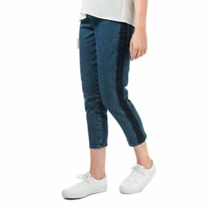 Women's Ted Baker Eruca Contrast Cropped Leg Straight Fit Jeans in Blue