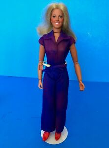 Vintage-1974-BIONIC-WOMAN-Doll-General-Mills-Fun-Group-Kenner-Jumpsuit-Red-Boots