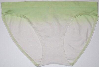NWT VICTORIA/'S SECRET LIGHT GREEN FADE OMBRE STRETCH SEAMLESS BIKINI PANTIES