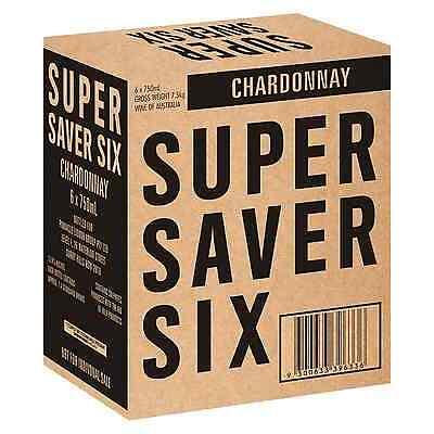 Super Saver Six Chardonnay case of 6 Dry White Wine 750mL