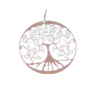 79690e70fec2 colgante árbol de la vida bicolor rosa de plata colgante para mujer ...