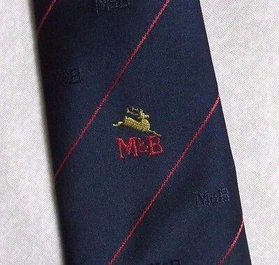 Bello Vintage Cravatta Da Uomo Cravatta Retro M&b Logo Aziendale Da Tie Rack-mostra Il Titolo Originale Prezzo Ragionevole
