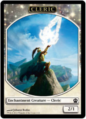 Fate Reforged FREE US SHIPPING! Light Play C MTG X2: Monk Token