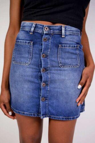 PEPE Jeans Jeansrock TATE L45 A-Form offene Knopfleiste Neu Größe S//M//L