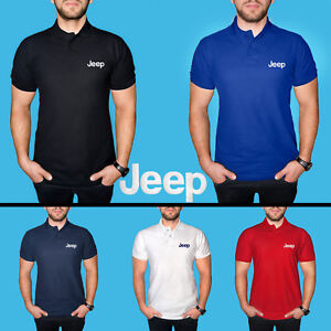 JEEP-Polo-T-Shirt-COTTON-EMBROIDERED-Auto-Car-Logo-Tee-Mens-Clothing-Gift-Casual
