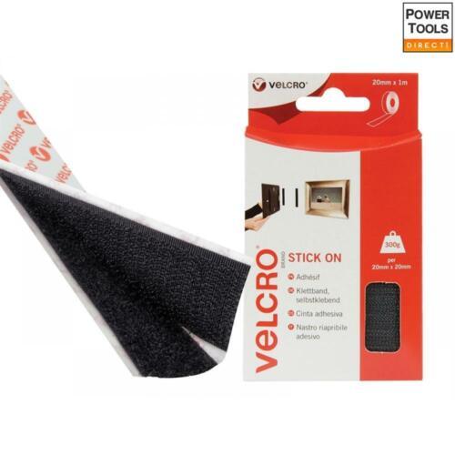 VELCRO Velcro Marca pegar en cinta 20mm X 1m Negro