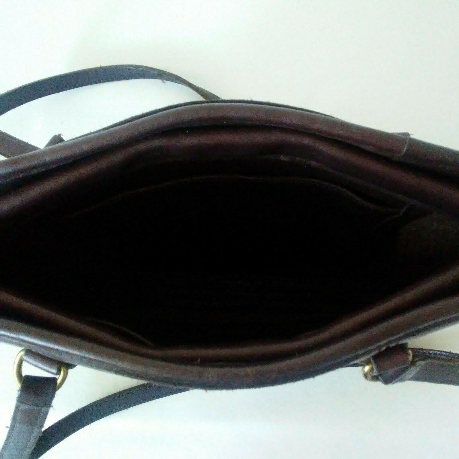 COACH Purse Handbag Leather Shoulder Brown A7C-99… - image 3