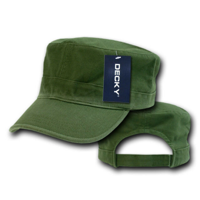 2959c9c01c5 OLIVE GREEN Washed Cotton MILITARY ARMY CADET HAT Patrol Fatigue BDU Castro  Cap