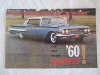 1960 Chevrolet Car Sales Catalog Color Must Have Item