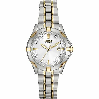 Citizen Eco-Drive Women's EW1934-59A Diamond Markers Two Tone Watch