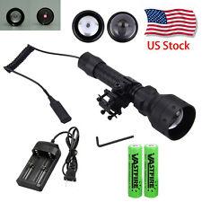 Zoom OSRAM Infrared IR 850nm Night Vision LED Flashlight Hunting Torch+Gun Mount