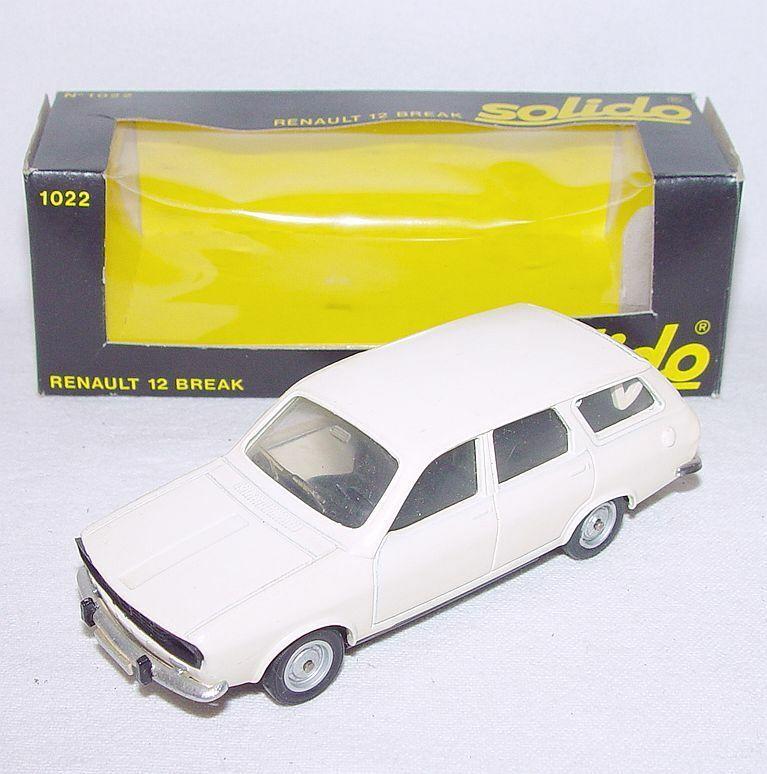 Solido France 1 43 RENAULT 12 BREAK  Ivory Nr. 1022 Model Car MIB`80  VERY RARE