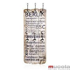 Berlin Garderobenpaneel 100x40 cm Flurgarderobe mit Kleiderhaken Jackenhalter