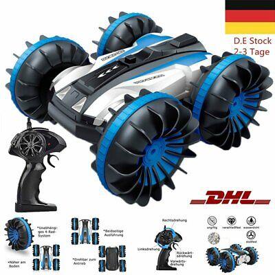 4WD RC Stunt Fernbedienung Auto 360 °Drehung Amphibisch Offroad Wasserdicht DHL