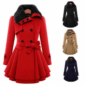 Plus-Size-Women-Winter-Long-Outwear-Warm-Jacket-Slim-Coat-Windbreaker-Overcoat