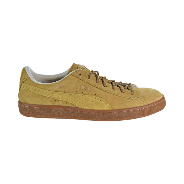 a287cc737a6f5d PUMA Basket Classic Winterized Mens Tan Leather Lace up SNEAKERS ...
