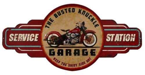 Panneau Métallique Plaque de Publicité Biker Service Garage Moto Mural 28x60 CM