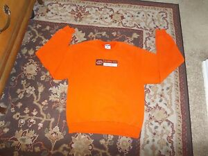 JERZEES-OKLAHOMA-STATE-OSU-COWBOYS-MEN-039-S-ORANGE-SWEATSHIRT-SIZE-SMALL