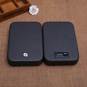 Car-Safe-Handgun-Storage-Box-Security-Safe-Vault-Jewelry-with-Password-Key-Lock