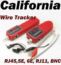 Wire Tracker Coaxial Ethernet LAN Cable Network Tester RJ45 BNC CAT 5E 6E Phone