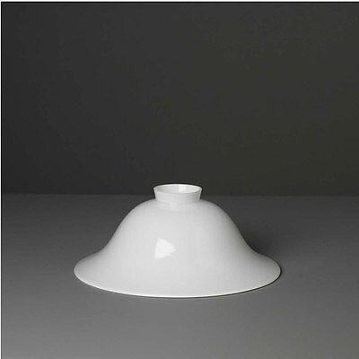 Lampenglas Helmform 30cm Opal Neu Ersatzschirm