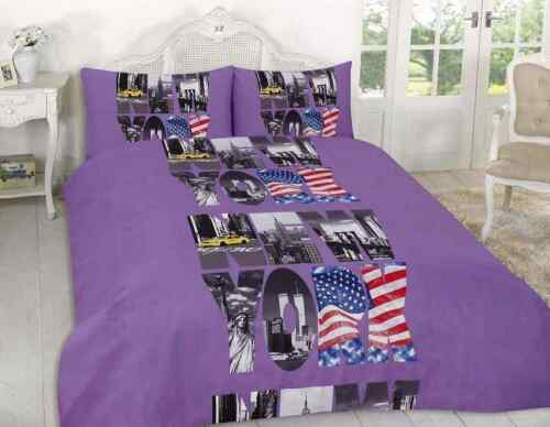 Duvet Cover With Pillow Cases Quilt Cover Bedding set Cars NEW YORK All Sizes