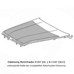 Mercedes-Benz-Daemmung-Motorhaube-Daemmmatte-Motor-R107-C107-W107-SL-SLC-Neu
