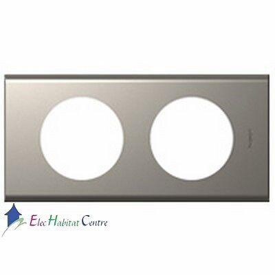 Plaque double Céliane matière verre piano Legrand 69302