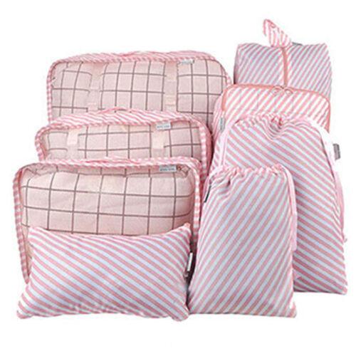 8Pcs Travel Storage Bag Suitcase Shoes Pouch Clothes Luggage Makeup Organiser