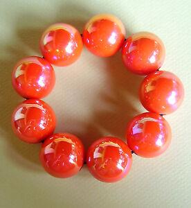 1929 / Bracelet Boules Plastique Nacre Sur Caoutchouc 4gj3y4ey-10040544-774010663