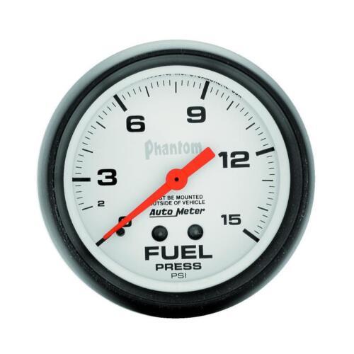 "Auto Meter Fuel Pressure Gauge 5810; Phantom 0 to 15 psi 2-5//8/"" Mechanical"